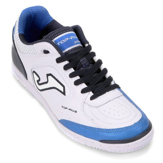 fcd22cf468 Chuteira Futsal Joma Top Five IN - Branco