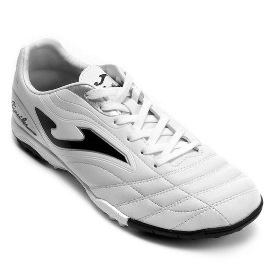 Chuteira Society Joma Aguila TF - Branco - Compre Agora  55b8fdd72161d