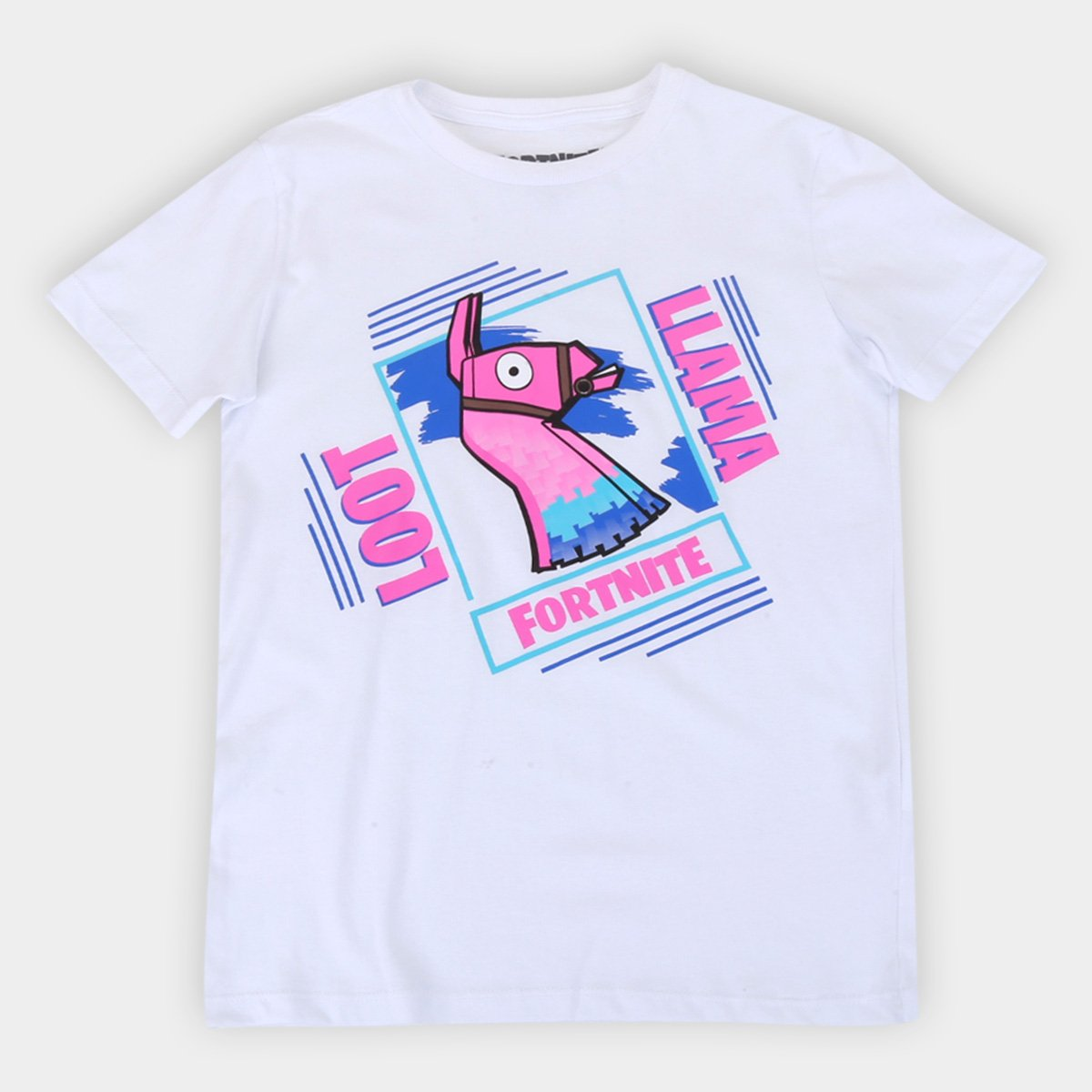 Camiseta Juvenil Fortnite Loot Lhama Masculina