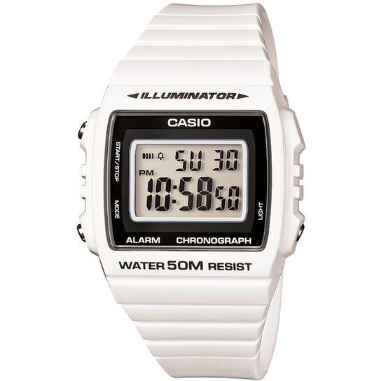511c2918c7c Relógio Casio W-215H-4A - Branco - Compre Agora