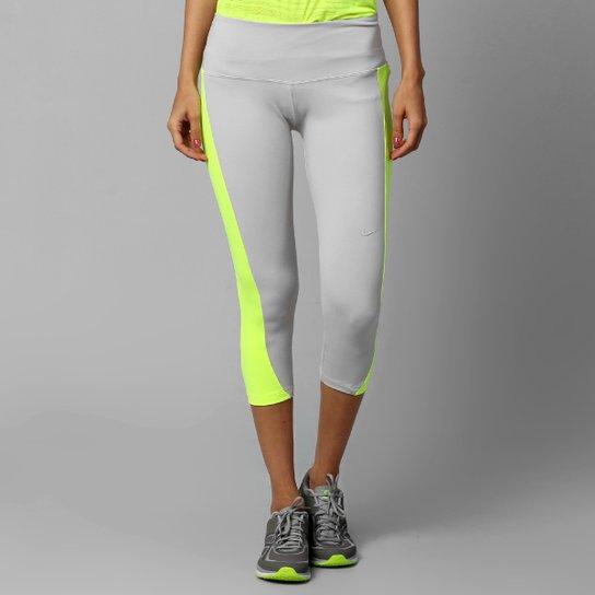 Calça 3 4 Nike Tight 3 - Prata+Verde Limão 7db917440de10