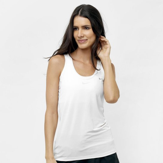 9860077503 Camiseta Regata Nike Poliamida - Branco