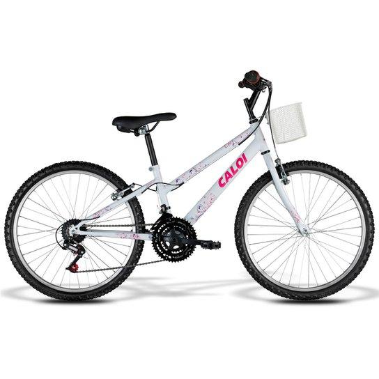 0badeafec8 Bicicleta Caloi Ceci Juvenil - Aro 24 - 21 Marchas - Branco