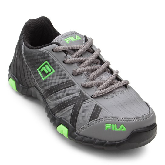 52c4f0b9afd Tênis Infantil Fila Slant Summer - Cinza e Verde - Compre Agora ...