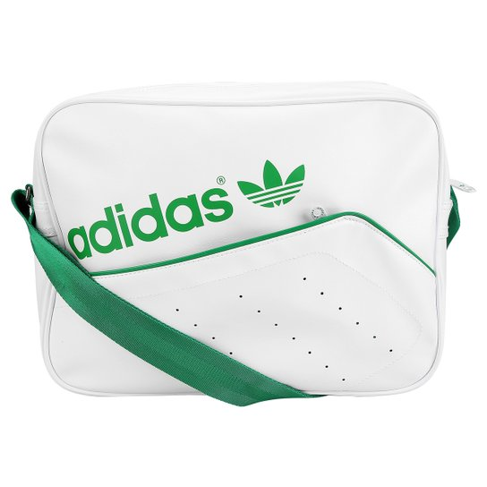 8d5f0cff6 Bolsa Adidas Airliner Perf - Branco+Verde