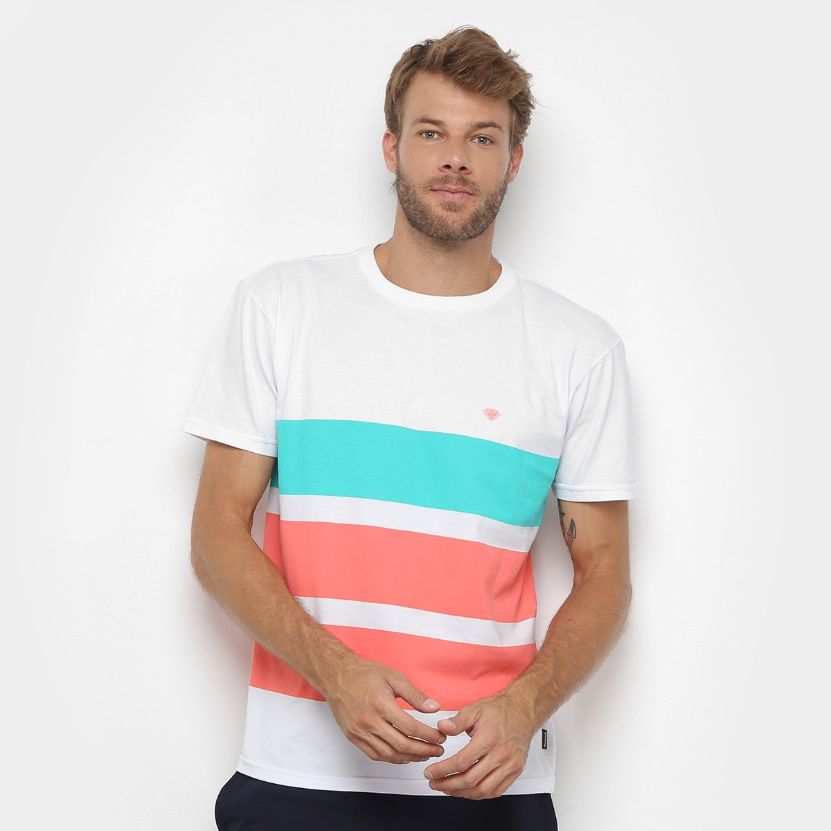 Camiseta Diamond Brillant Pacht Striped Masculina