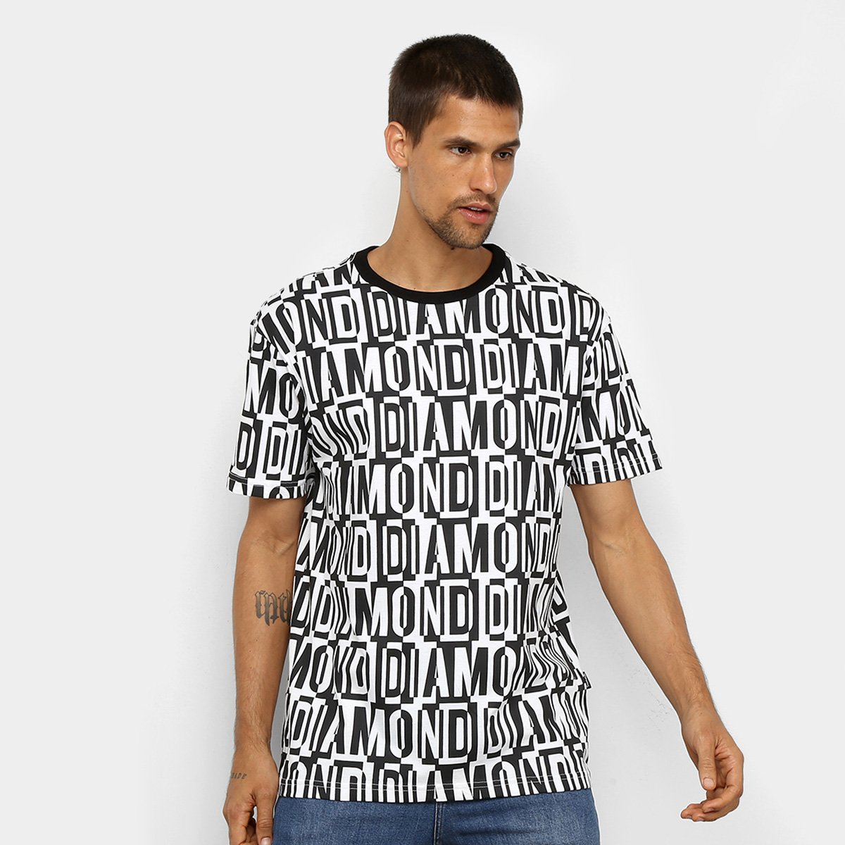 Camiseta Diamond Jumbled Tee Masculina