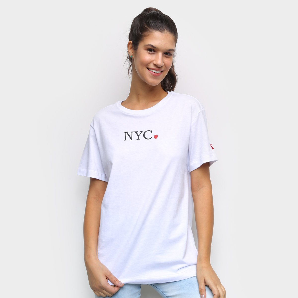 Camiseta New Era NYC Apple Feminina