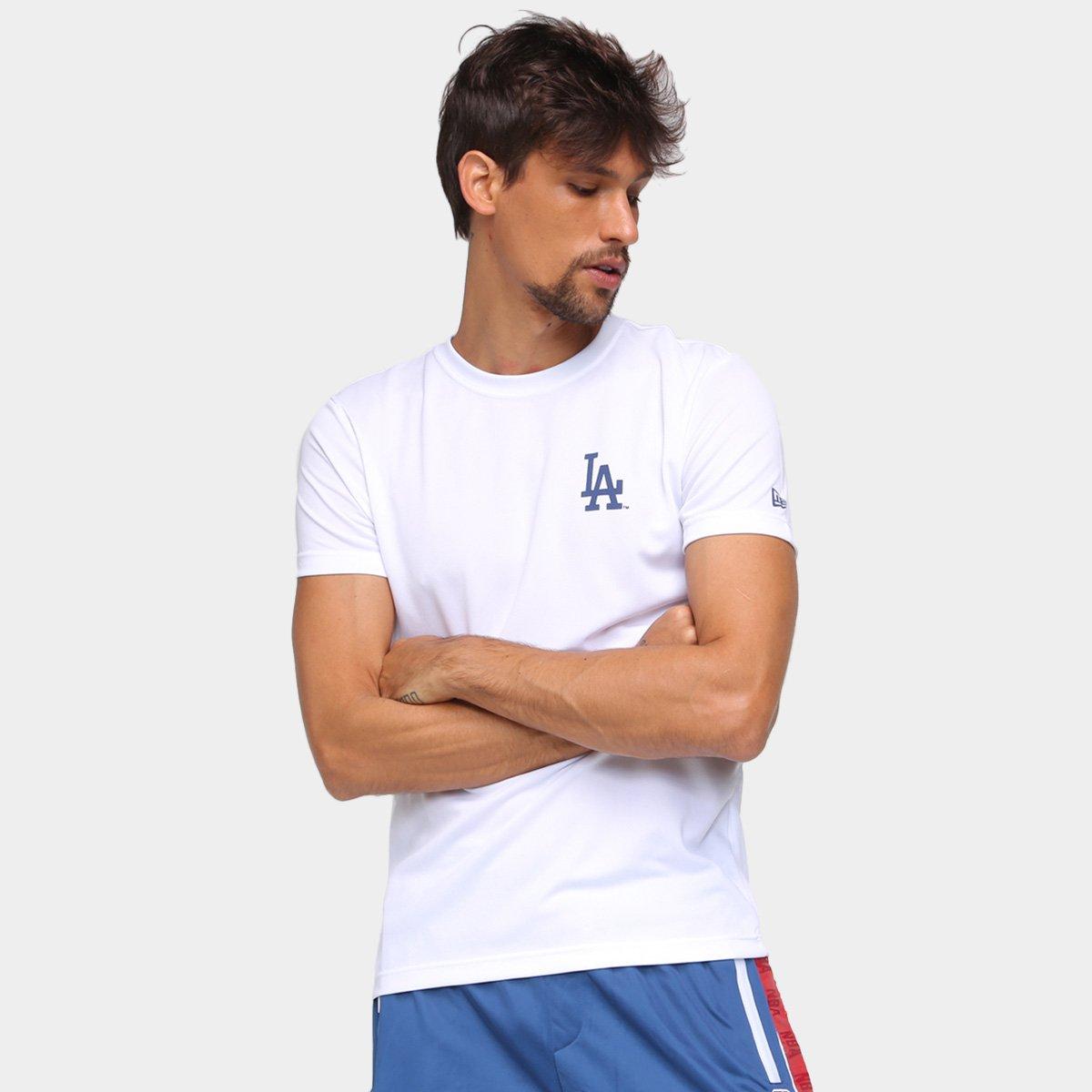 Camiseta MBL Los Angeles Dodgers New Era Tech Globe Masculina