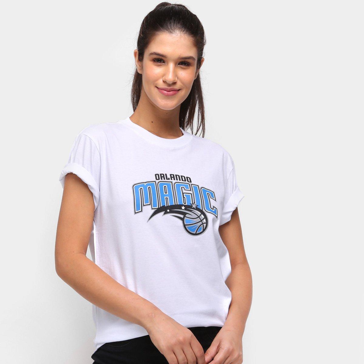 Camiseta NBA Orlando Magics New Era College School Feminina