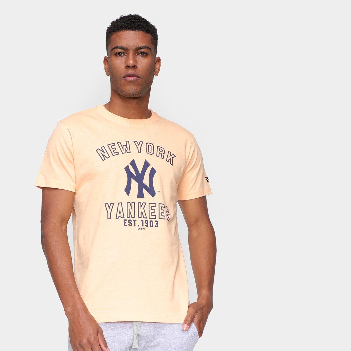 Camiseta MLB New York Yankees New Era College Type Masculina