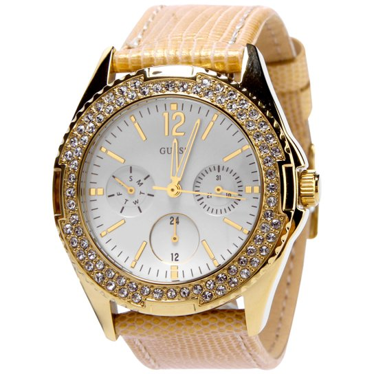 Relógio Guess Feminino Dourado BraceleteLeather Name Bracelets 3784147220