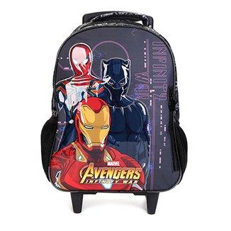 Mochila Escolar Infantil Xeryus Rodinhas Estampa Avengers 351d3077ef6