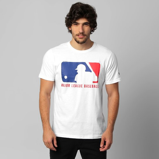 5e11a02c3 Camiseta New Era Logo MLB - Branco - Compre Agora