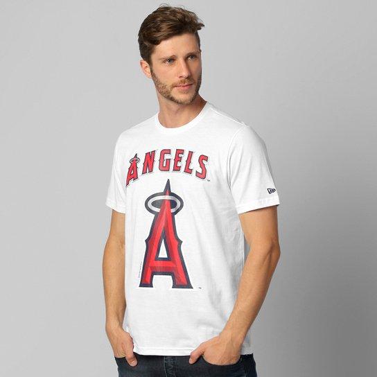 Camiseta New Era MLB Básica Los Angeles Angels - Branco+Vermelho b7cd6a4e1d2