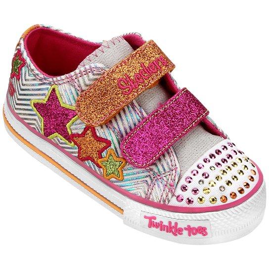 c3e4d6386ab Tênis Skechers Twinkle Toes Shuffles Triple Up Infantil - Compre ...