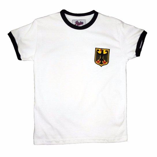 e3cec3eeaa Camisa Liga Retrô Infantil Alemanha 1974 - Branco - Compre Agora ...