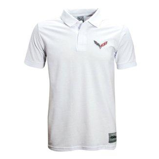 Camisa Liga Retrô Premium Corvette Polo Logo peito 636acfc2b16a4