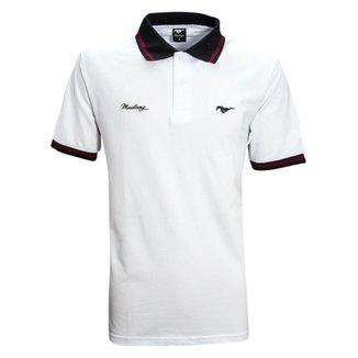 32c1369cfb107 Camisa Liga Retrô Premium Mustang Polo Logo Cavalo peito