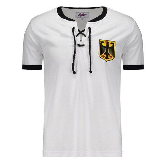 7c3a7c16c8 Camisa Retrô Alemanha 1954 Masculina - Branco - Compre Agora