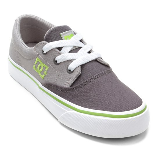 89b287fd71 Tênis Infantil DC Shoes Flash 2 Tx La Masculino - Cinza e Verde ...