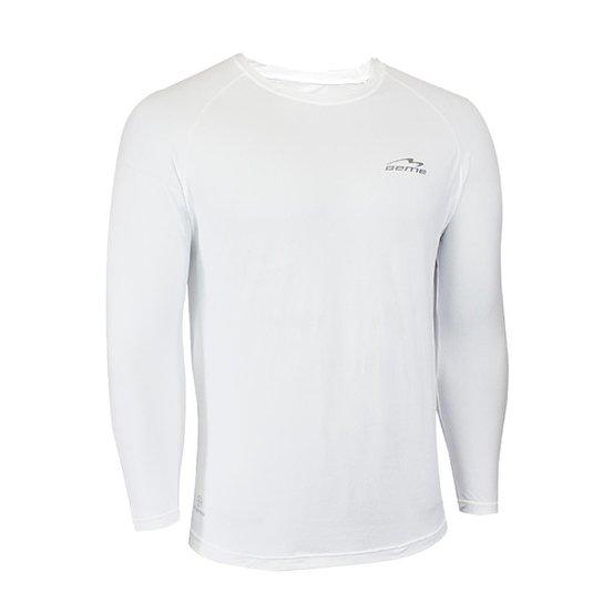 Camisa Raglã Poliamida Manga Longa Proteção Solar Masculina - Branco ... 6c066d85cf1f3