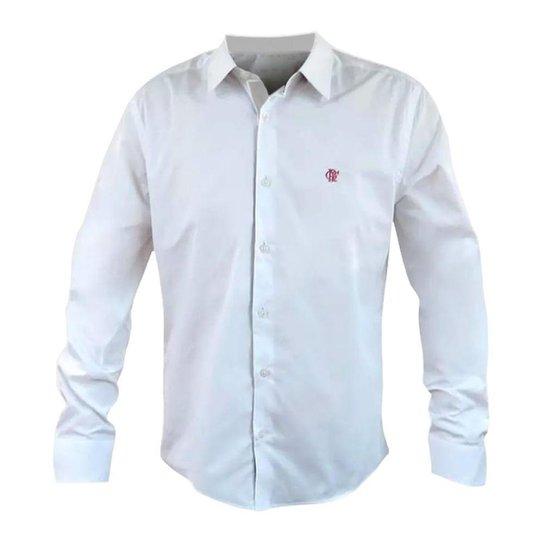 31aa58f30a Camisa Flamengo Social Hat Trick Masculina - Branco