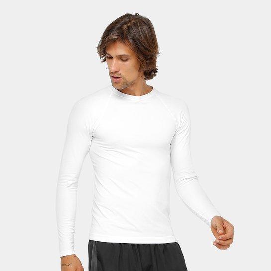 cbfc197d1cdd4 Camiseta de Compressão Lupo Sport Run Manga Longa - Branco - Compre ...