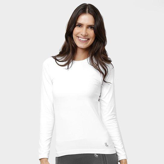 8c823291b5 Camiseta Lupo Sport Com Proteção UV Manga Longa Feminina - Branco ...