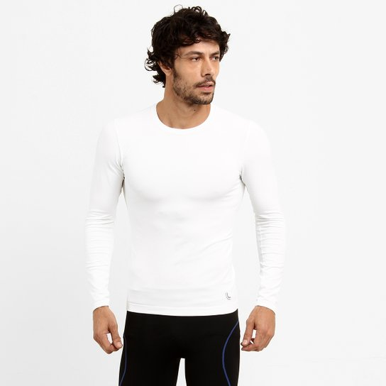Camiseta Lupo Sport Com Proteção UV Manga Longa Masculina - Branco 80d35b1902b49