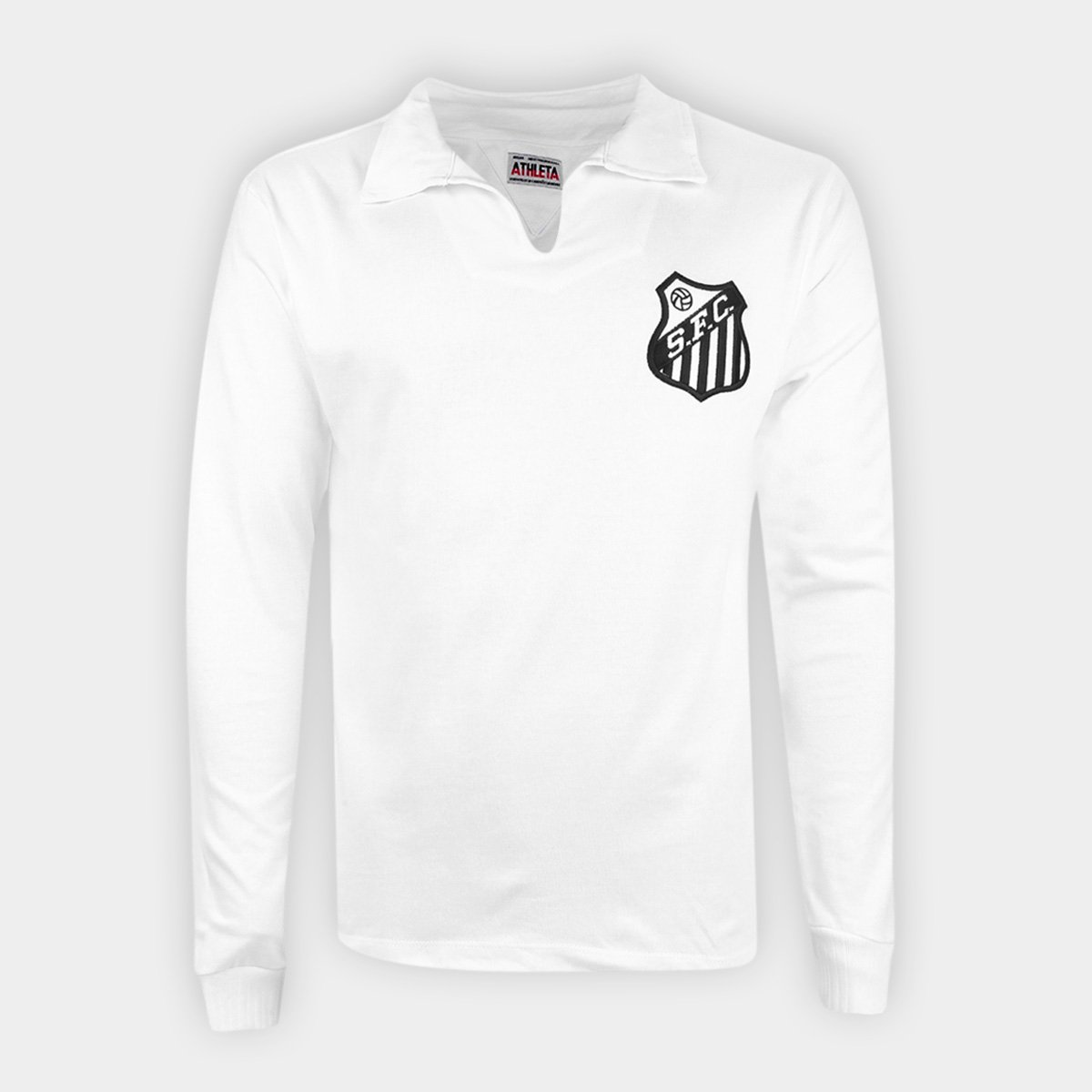 Camisa Polo Retrô Santos Manga Longa 62/63 nº 10 Athleta Masculina