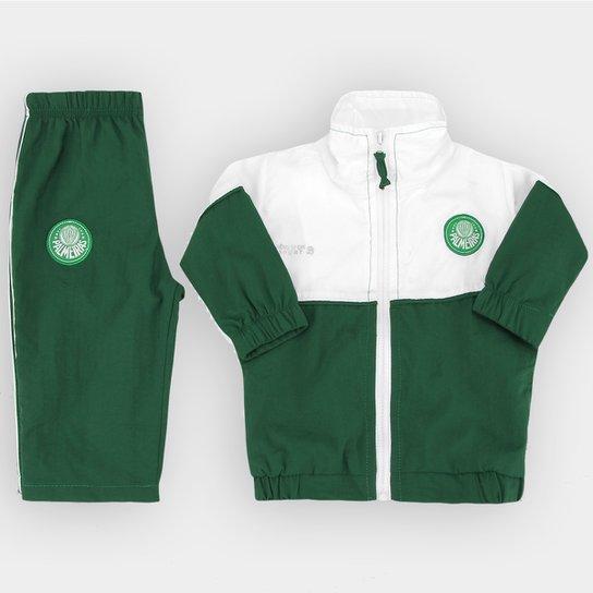 95dc838934 Agasalho Palmeiras Infantil - Branco e Verde - Compre Agora