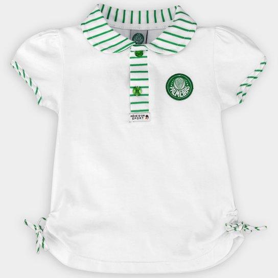 8fbb4364d2 Camisa Polo Palmeiras Infantil - Branco - Compre Agora