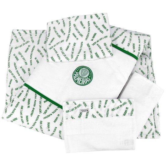 8d3e9169f2 Kit Palmeiras Edredom c  4 peças - Branco+Verde