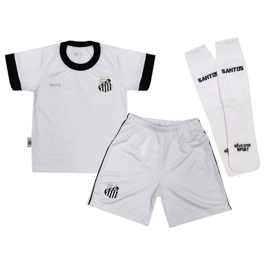 83410079d0fdc Conjunto Artilheiro Santos Reve Dor - 8 Anos - Branco - Compre Agora ...