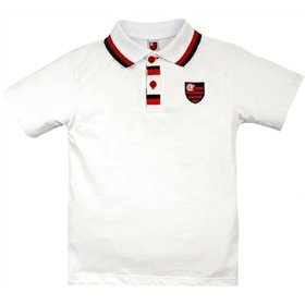 Camiseta Polo Meia Malha Menino Flamengo Reve Dor - 3 Anos 3bf2365a03709
