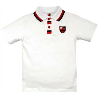 Camiseta Polo Meia Malha Menino Flamengo Reve Dor - 3 Anos b64307f37b953