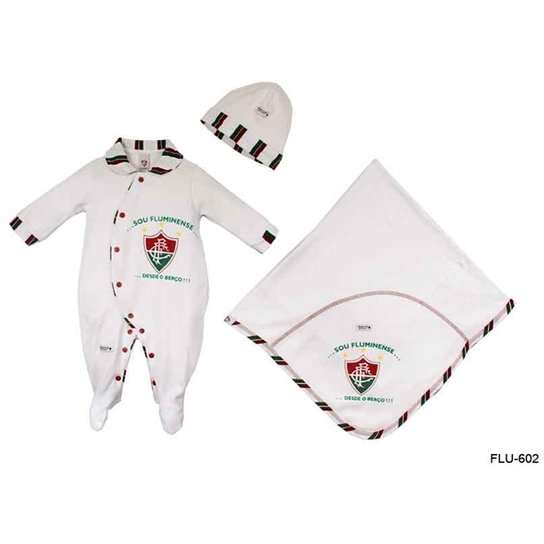 751724b44c8fb Saída Maternidade Suedine Unissex Fluminense Reve Dor - Branco ...