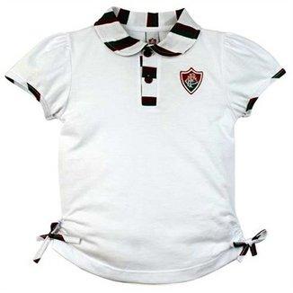 Camiseta Polo Meia Malha Menina Fluminense Reve Dor - 1 Ano 19197aaab6ab9