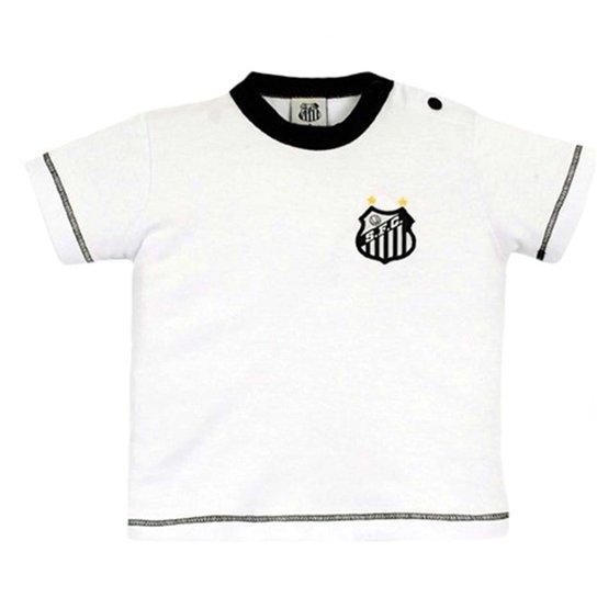 Camiseta Cores Clube Meia Malha Santos Reve Dor - Branco - Compre ... 8e90751f242b9