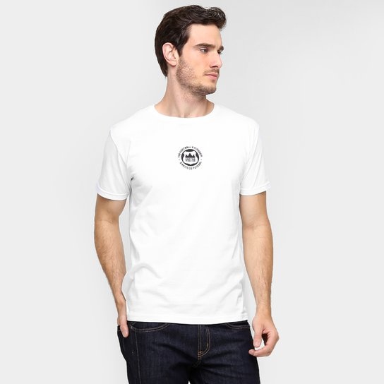 0b9752f239 Camiseta Santos Futebol Clube - O Reino do Futebol Masculina - Branco