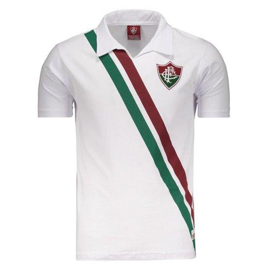 Camisa Fluminense Retrô Masculina - Branco - Compre Agora  e394ce87f5e42