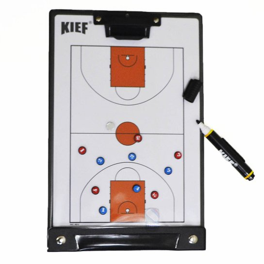 3e5ec97e16 Prancheta Tática Magnética Basquete Kief C  Caneta - Branco - Compre ...