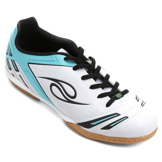 28891c0d7c Chuteira Futsal Dalponte Supreme Masculina - Branco+Azul Claro