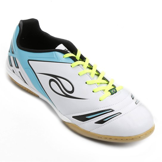 3b454686d7e58 Chuteira Futsal Dalponte Supreme Masculina - Branco+Azul Claro