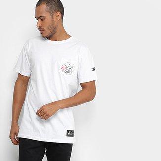 Camiseta Starter Estampada Pocket Masculina 386b2364963