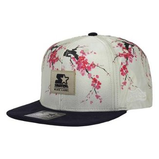 Boné Starter Aba Reta Snapback Floral Sakura ac3910df78b