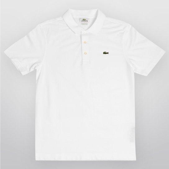 068c05f4e152f Camisa Polo Lacoste Super Light Masculina - Branco - Compre Agora ...