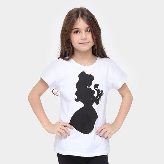 535672213 Camiseta Disney A Bela E A Fera Infantil - Compre Agora