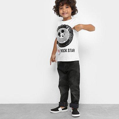 Camiseta Infantil Disney Flamê Masculina